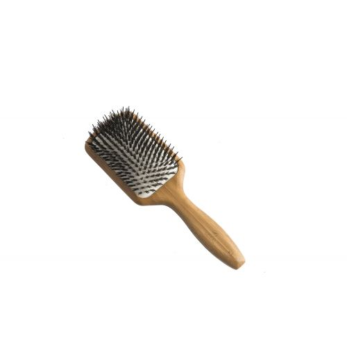 Bamboo Paddle Brush (Large - Natural Bristles)