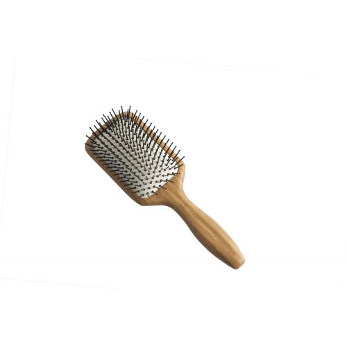 Bamboo Paddle Brush (Large - Nylon Pins)
