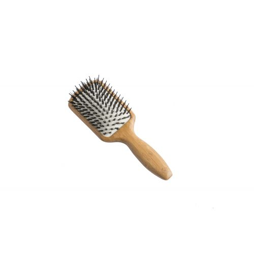 Bamboo Paddle Brush (Small - Natural Bristles)
