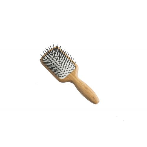 Bamboo Paddle Brush (Small - Nylon Pins)